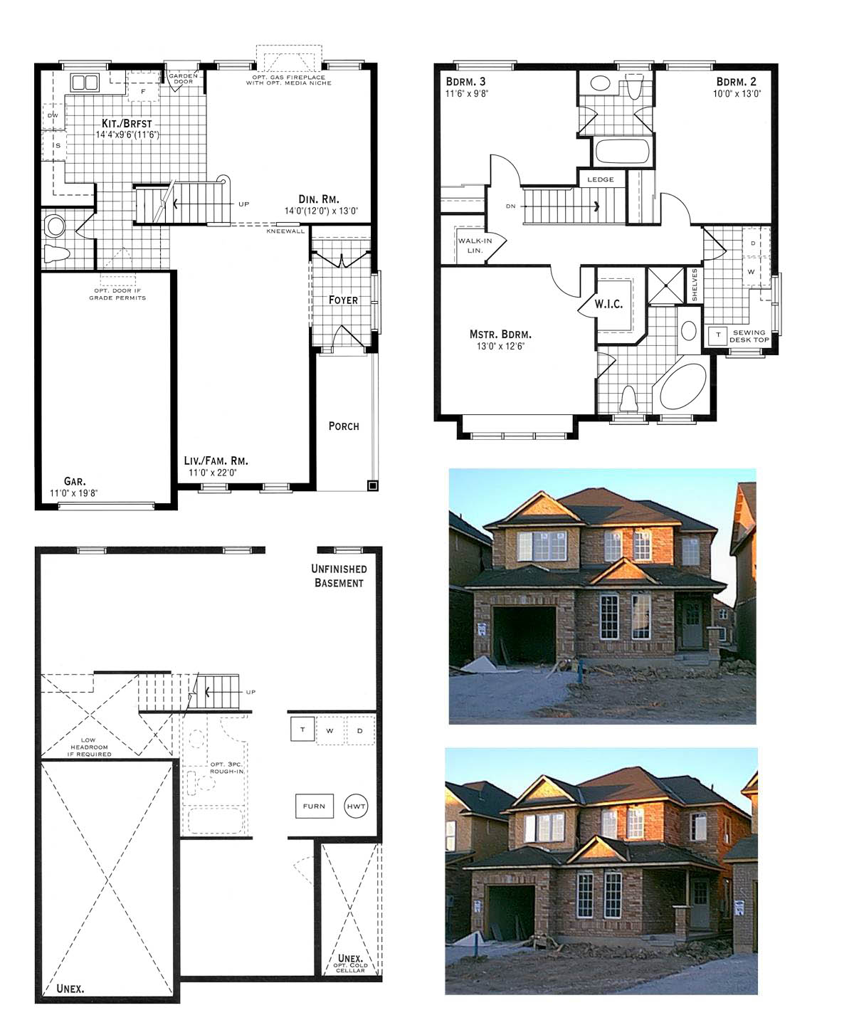 House Plan and Elevation Photos